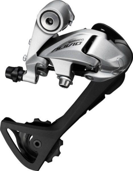 Перемикач задній Shimano Alivio RD-T4000 SGS 9 швидкостей довгий важіль сріблястий