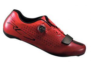 Велотуфли Shimano RC7-R красные карбон вставка